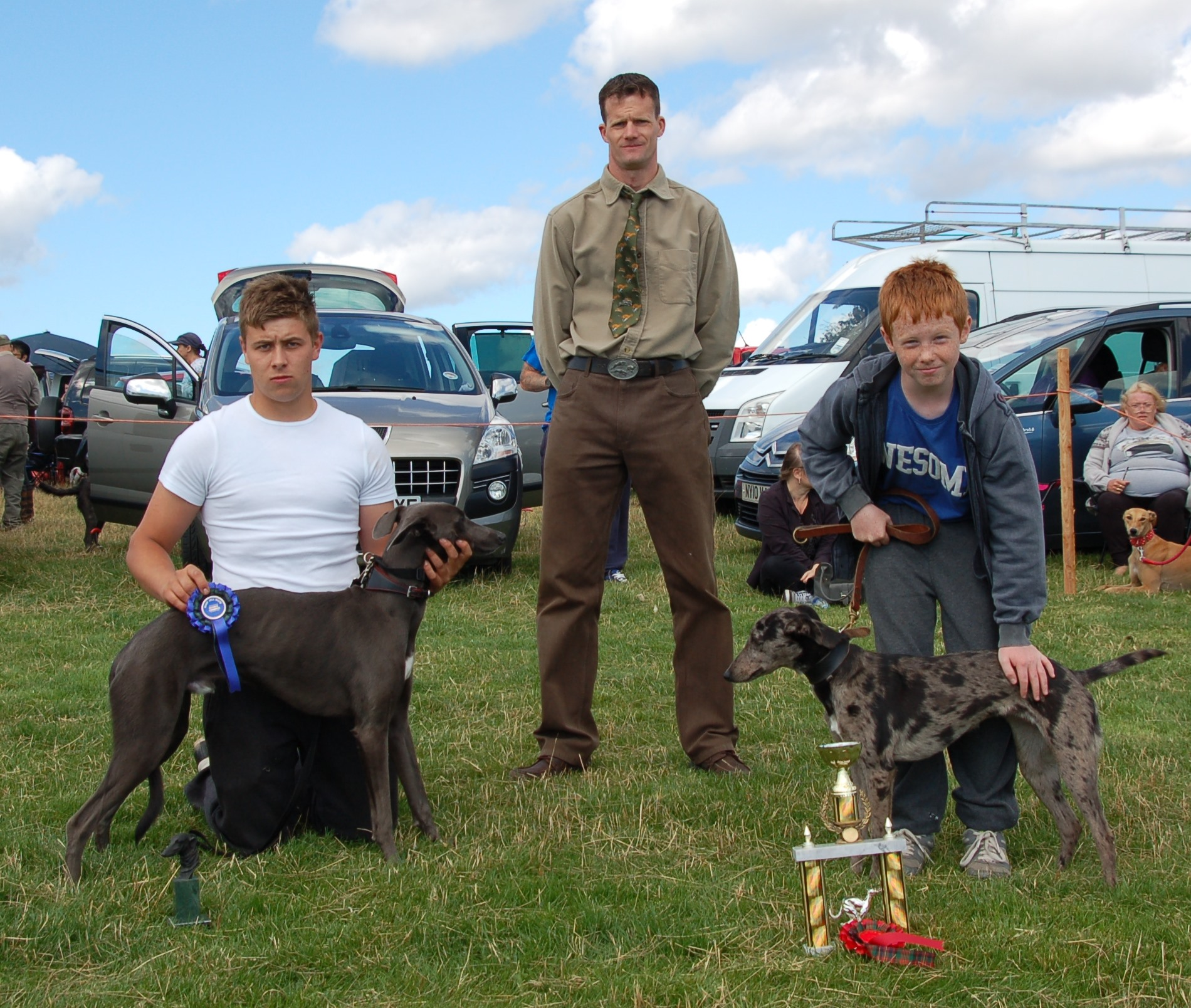 Best two Lurcher Pups, Justin Rudd's Maggie & Sam Shelley's Billy,
