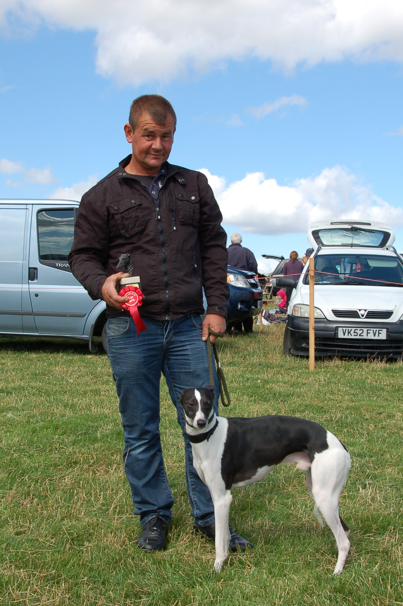 Best Whippet Mike Newlove with Pip,