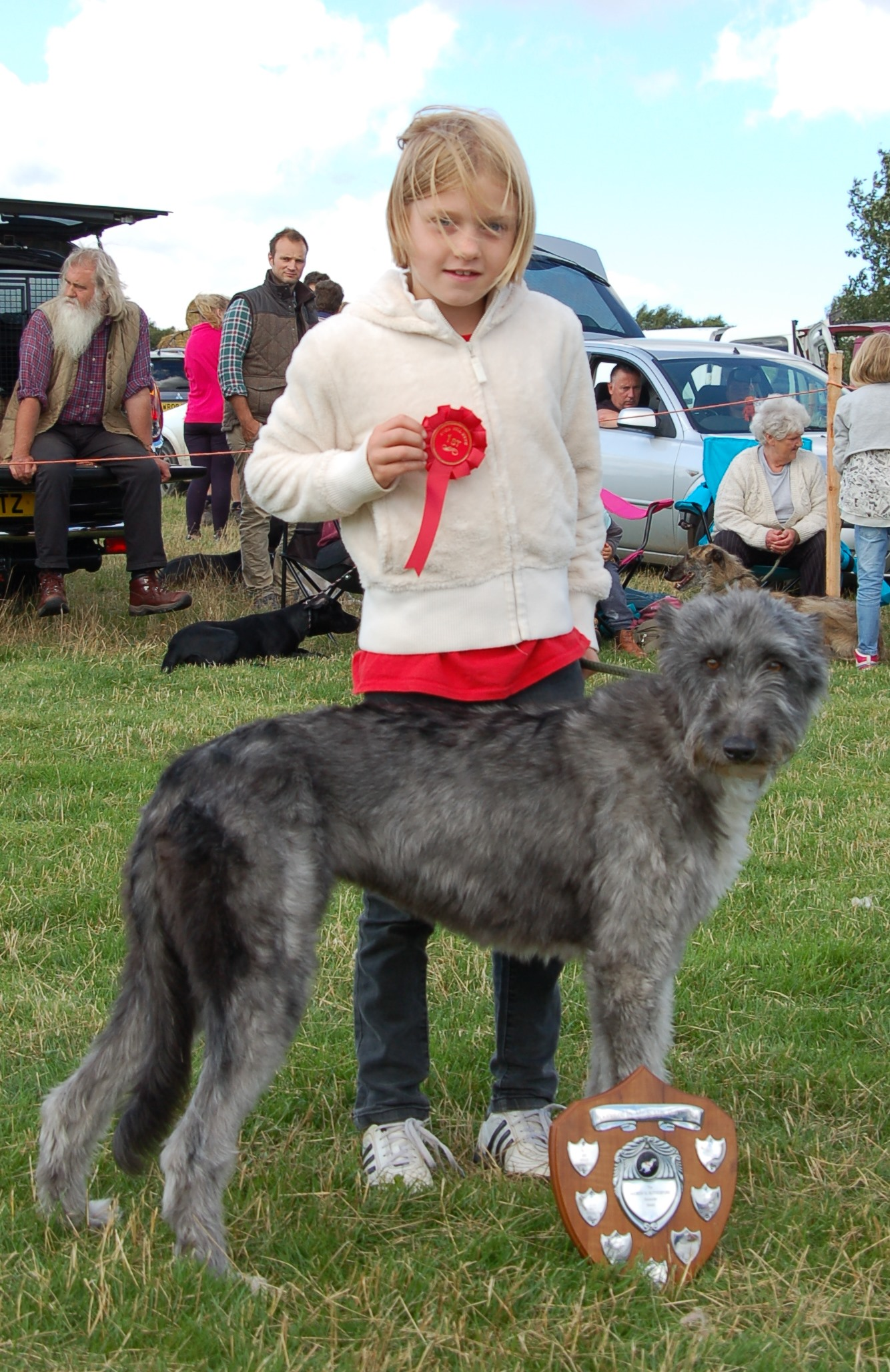 Best Lurcher Child handler, Rosie Hodgson with Millie,